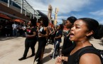 Students Stage Protest At UC Riverside