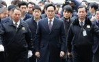 Vice Chairman of Samsung Group  Lee Jae-yong at the Seoul Central District Court.