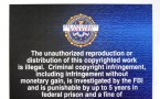 The FBI warning on digital and software as the first measure to combat digital piracy.