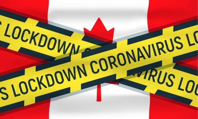 Canada flag icon and logo,lockdown